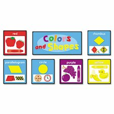 Quick Stick Bulletin Board Set, Colors and Shapes