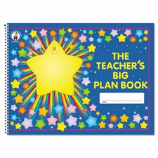 "Lesson Plan Book, 42-Week, Wirebound, 9.25"" x 13"", 96 Pages"