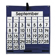 Monthly Calendar 43-Pocket Chart with Day/Week Cards