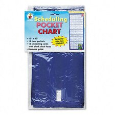 Scheduling Pocket Chart with 16 Cards, Guide, Hanging Grommets