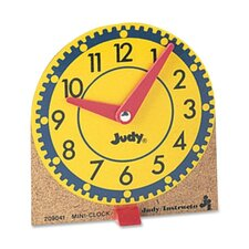 Mini Judy Clocks, Mounted on Wooden Base, 12/ST