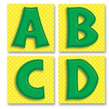 "Quick Stick Letters, Self-adhesive, 3""x3"", 45/PK, Green"