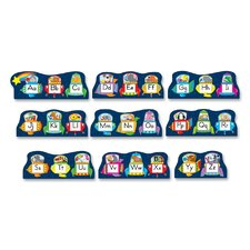 Alphabet Space Bulletin Board Set