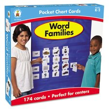 Word Families Pocket Chart Cards (Pack of 164)