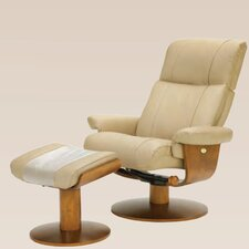 <strong>Mac Motion</strong> Oslo Swivel Recliner and Ottoman
