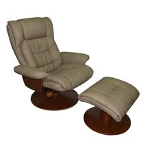 <strong>Mac Motion</strong> Oslo Vinci  Recliner and Ottoman