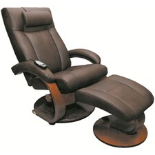 Oslo Shiatsu Massage Swivel Recliner and Ottoman with Optional Pillow