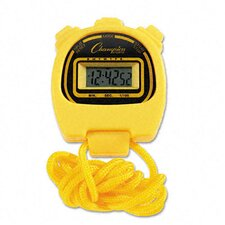 Water-Resistant Stopwatches, 1/100 Second (Set of 6)