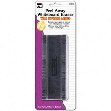 Peel-Away Dry Erase Board Eraser with 12 Disposable Pads, Felt, 5""