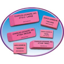 <strong>Charles Leonard Co.</strong> 12/bx Synthetic Pink Wedge Erasers