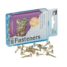Brass Paper Fasteners 1 100/box