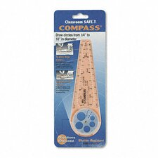 Classroom Safe-T Products Plastic Compass