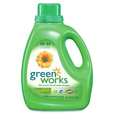Green Works Natural Laundry Detergent, 4/90oz., White