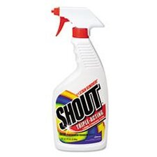 Shout Laundry Stain Remover, 22 Oz Trigger Spray Bottle, 12/Carton