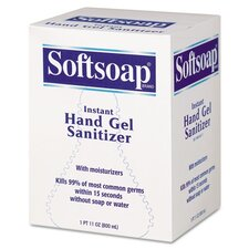 Softsoap Fragrance-Free Instant Hand Gel Sanitizer Refill, 800-Ml Bag