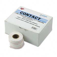 "Garvey One-Line Pricemarker Labels, 0.43"" x 0.8"", 1200/Roll, 16 Rolls/Box"