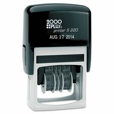 2000 Plus Economy Self-Inking Dater Stamp in Black