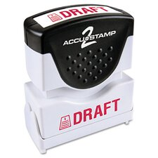 """Draft"" Shutter Stamp"