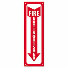 Fire Extinguisher Glow-In-The-Dark Sign in Red