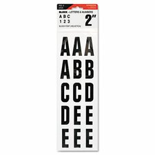 Letters, Numbers and Symbols Adhesive in Black