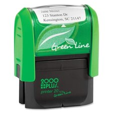 2000 Plus Green Line Self Inking Stamp
