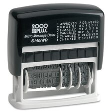 <strong>Consolidated Stamp</strong> 2000 Plus Self-Inking Micro Message Dater Stamp