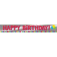 "<strong>Creative Converting</strong> 108"" Happy Birthday Foil Banner"