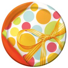 "7"" Chic Birthday Lunch Plate (8 Count)"