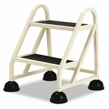 <strong>Cramer Industries, Inc.</strong> Stop-Step Two-Step Aluminum Ladder, 21-1/4w x 20-1/4d x 22-7/8h, Beige