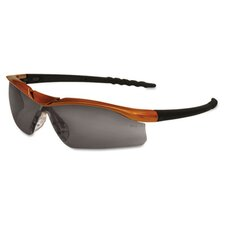 Dallas Wraparound Safety Glasses, Orange Frame, Clear AntiFog Lens