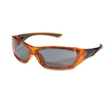 ForceFlex Safety Glasses, Orange Frame, Gray AntiFog Lens