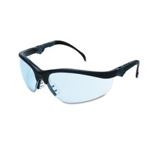 Klondike Plus Safety Glasses, Black Frame, Clear Lens
