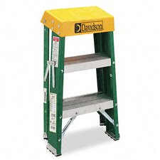Louisville #624 Folding Fiberglass Locking Two-Step Stool