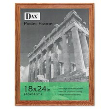 Plastic Poster Frame, Traditional with clear plastic window, 18 x 24, Medium Oak