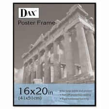 Coloredge Poster Frame with clear plastic window, 16 x 20, Clear Face/Black Border