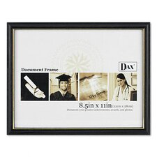 "Two-Tone Document/Diploma Wood Frame, 8.5"" x 11"""