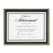 Trimmed Document Wood Frame with Certificate, 8-1/2 X 11