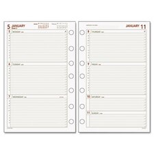 Express Weekly Planning Pages Refill, Hourly Appointments Mon-Fri, 5-1/2 x 8-1/2, 2012