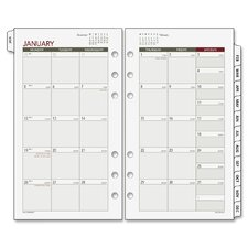 <strong>Day Runner</strong> Express Nature Tabbed Monthly Calendar Refill