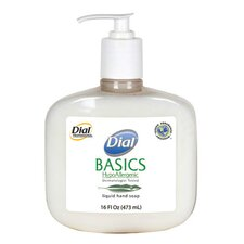 Basics Hypoallergenic Liquid Soap Honeysuckle Pump in White Pearl