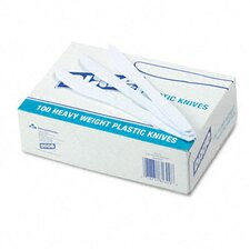 Plastic Cutlery, Heavyweight Knives, 100/Box