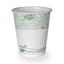 EcoSmart Hot Paper Cup Viridian Design (Set of 22)