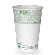 EcoSmart Hot Cups, PLA Lined Paper, Viridian, 16 oz (1000 Per Order) (Set of 22)