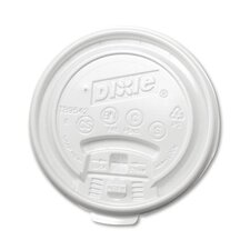 8 oz Plastic Lid for Hot Drink Cup in White