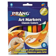 Prang Classic Art Markers, Conical Tip (8 Pack)
