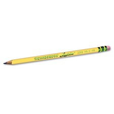 Ticonderoga Laddie Woodcase Pencil with Eraser, 12/Pack