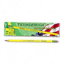 Ticonderoga Woodcase Pencil, B #1, 12/Pack