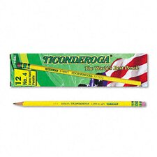Ticonderoga Woodcase Pencil, 2H #4, 12/Pack