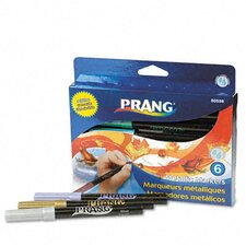 Prang Washable Markers, Bullet Tip (6 Pack)