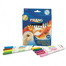 Prang Washable Markers, Fine Point, 24 Assorted Colors, 24/set